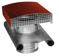 CT fém tetőátvezető tetősapkával cserépvörös NA125