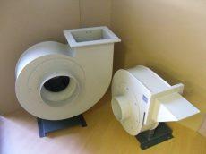 TPMV 315 N PP Vegyszerálló, oldószerálló centrifugál ventilátor. A szállított közeg max.: 90C.