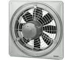 Maico EZQ 20/4 E Axiál fali ventilátor négyszögletes fali lemezzel, DN 200, váltóáram  Termékszám: 0083.0484
