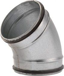 Gumitömítéses könyök, 45°-os, horganyzott acél  NA150
