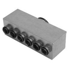 HV MHU-160-63-6-R elosztó doboz jobbos csonkos