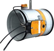 CR60+BFLT230 200• Motoros, kör keresztmetszetű tűzcsappantyú, 230V, 90 perc