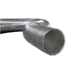 Semiflex Aluvent Félmerev aluminium cső NA100/1m