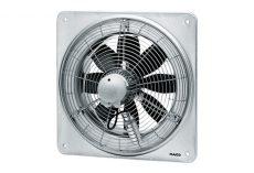 Maico Axiál fali ventilátor négyszögletes fali lemezzel, DN 250, háromfázisú váltóáram, váltható pólusú, 500 m³/h / 1.100 m³/h, DZQ 25/84 B