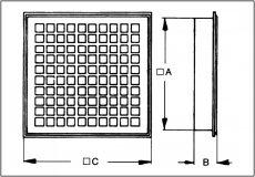 Maico MLG 20 Belső rács szellőztetéshez és elszíváshoz, acéllemez   UTOLSÓ 3 DB AKCIÓ