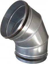 Gumitömítéses könyök, 90°-os, horganyzott acél  NA355