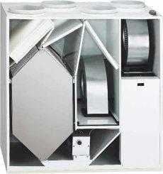 Helios KWL EC 500 W ET R Enthalpia hőcserélős központi szellőző, jobboldali
