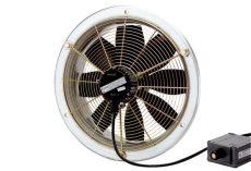 Maico Axiál fali ventilátor acél fali gyűrűvel, DN 200, háromfázisú váltóáram, robbanásbiztos, 500 m3/h, DZS 20/4 B Exe e