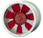 Helios HRFW 250/2 TK Axiális csőventilátor, Termokontaktos kivitel