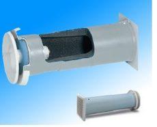 Helios ZLAG 100 Fali termikus légbeeresztő, szűrővel és széles távtartóval