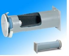 Helios ZLAG 160 Fali termikus légbeeresztő, szűrővel és széles távtartóval
