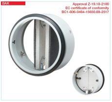 Helios tűzvédelmi elzáró elem, EN 1366-2, CE engedéllyel, EI90 tűzvédelmi besorolás, BAK 125