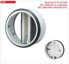 Helios tűzvédelmi elzáró elem, EN 1366-2, CE engedéllyel, EI90 tűzvédelmi besorolás, BAK 200