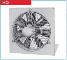 Helios axiálventilátor, védőráccsal, négyszög lemezen, ~1, 230V, HQW 710/6, 0,6 kW