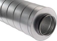 Kör keresztmetszetű hangcsillapító NA125  900mm